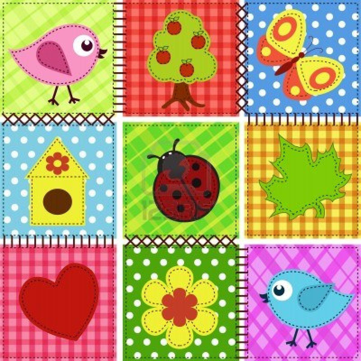 Cris patches coj n con aplicaciones de p jaros for Fotos de patchwork
