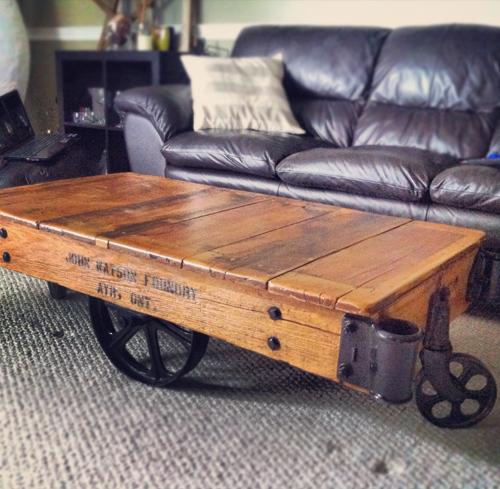railway cart coffee tables 1