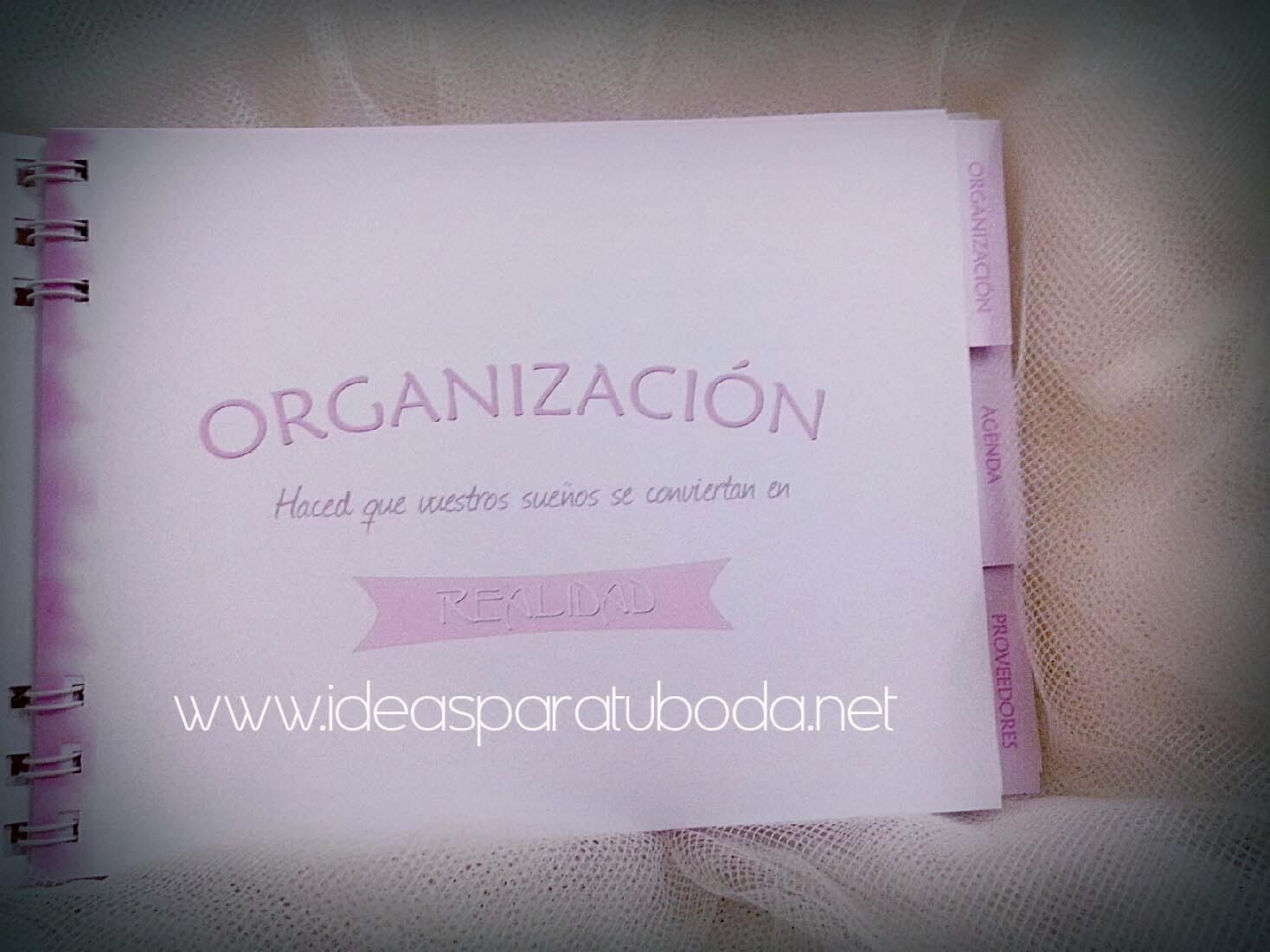 Agendas boda imprescindible para organizar vuestro d a - Todo lo necesario para una boda ...