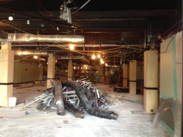 New Restaurant Construction : Howchow here comes the new foreman wolf restaurant
