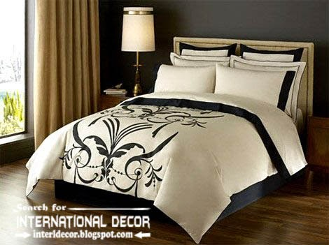 Italian bedspreads and bedding sets for luxury bedroom for Cream and black bedroom designs