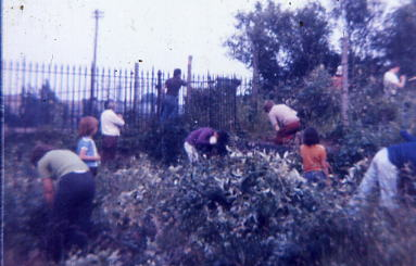 Members of the GRS clearing the station  1978