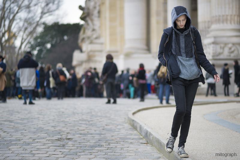 mitograph Julia Nobis After Acne Studios Paris Fashion Week 2013 2014 Fall Winter PFW Street Style Shimpei Mito