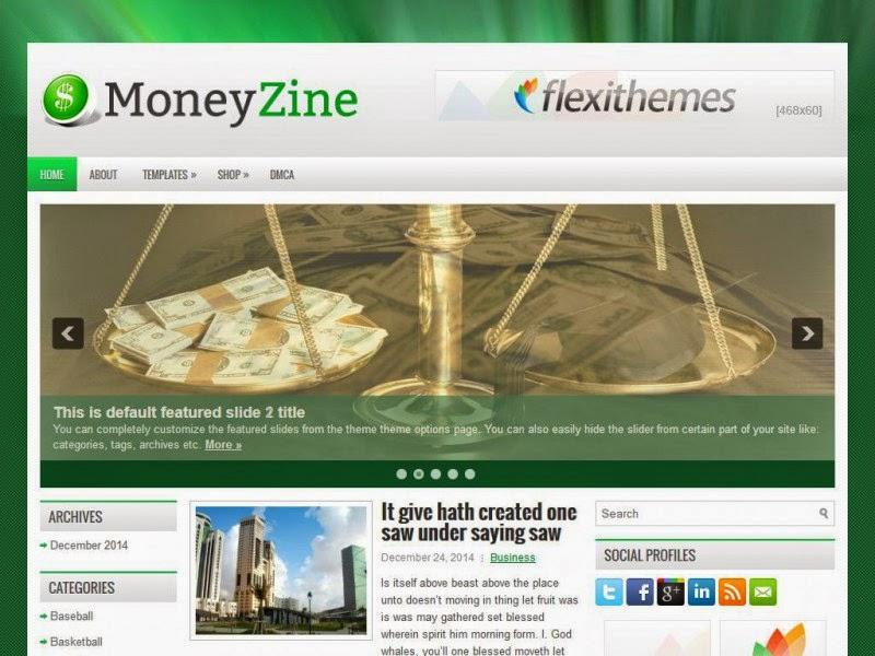 MoneyZine - Free Wordpress Theme