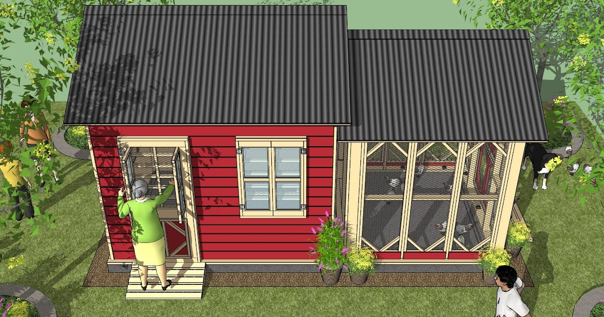 Home garden plans cb202 combo plans chicken coop for Garden shed designs 5