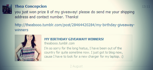 Another Package | BIRTHDAY GIVEAWAY from Theabooo