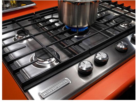 KitchenAid Architect Series II (KFGS306VSS) Gas Cooktop With 5 Burners  (Center Front Burner 15000 Btu/h,Left Front Burner 9100 Btu/h ,Left Rear  Burner 6000 ...