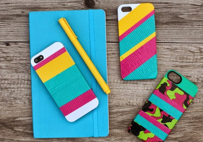 C mo decorar tu celular con cintas adhesivas - Como decorar una funda de movil transparente ...