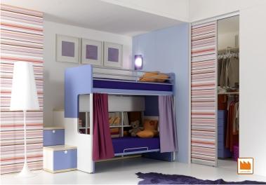 Habitaci n para dos ni os aprovechar espacios ideas - Aprovechar espacio dormitorio ...