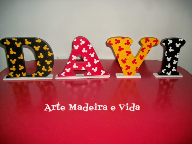 letras mdf mickey