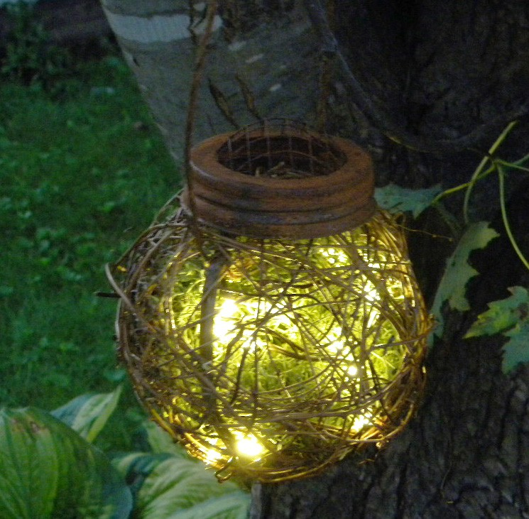Rustic Outdoor Firefly Lantern by Brianna Paige Designs