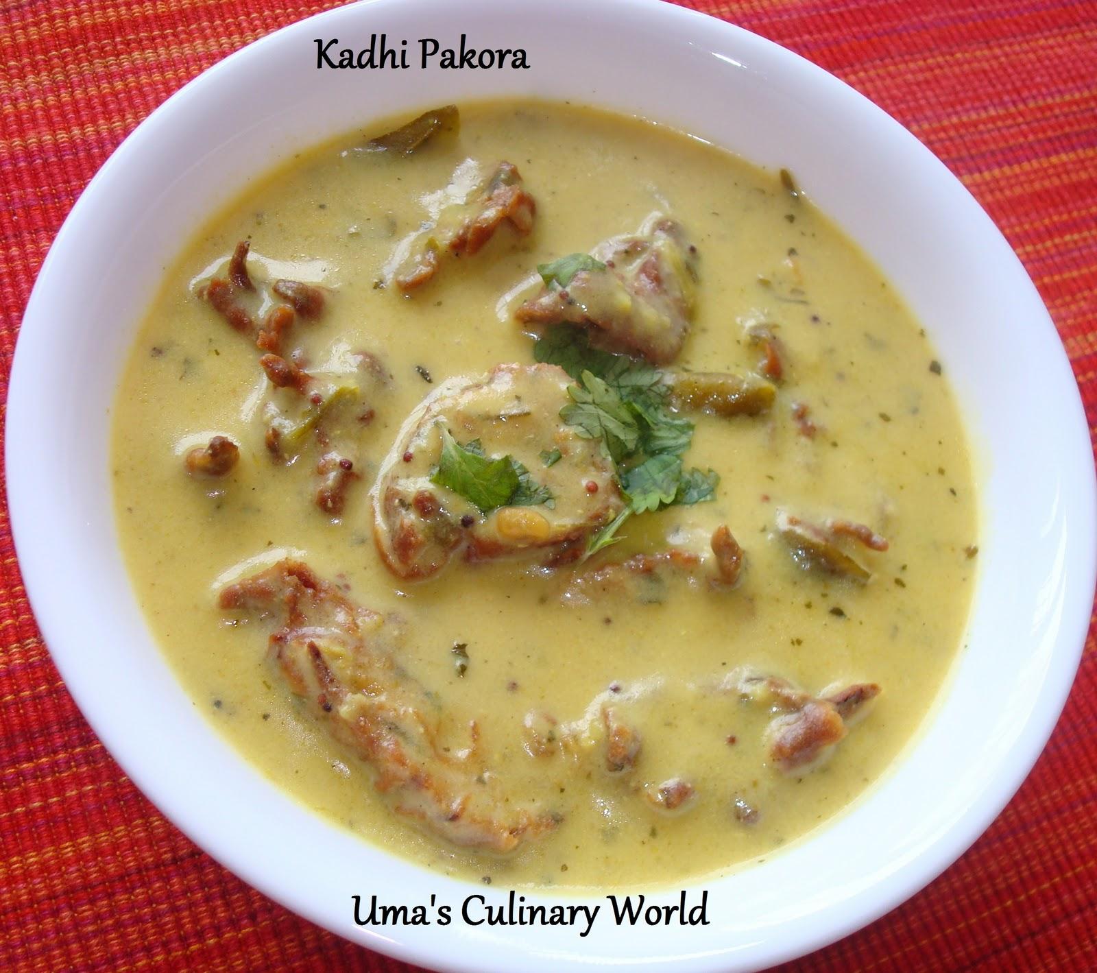 Umas culinary world kadhi pakora punjabi kadhi pakora forumfinder Images