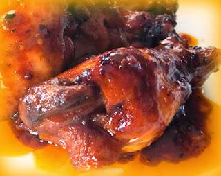 Alitas de pollo dulce amargor