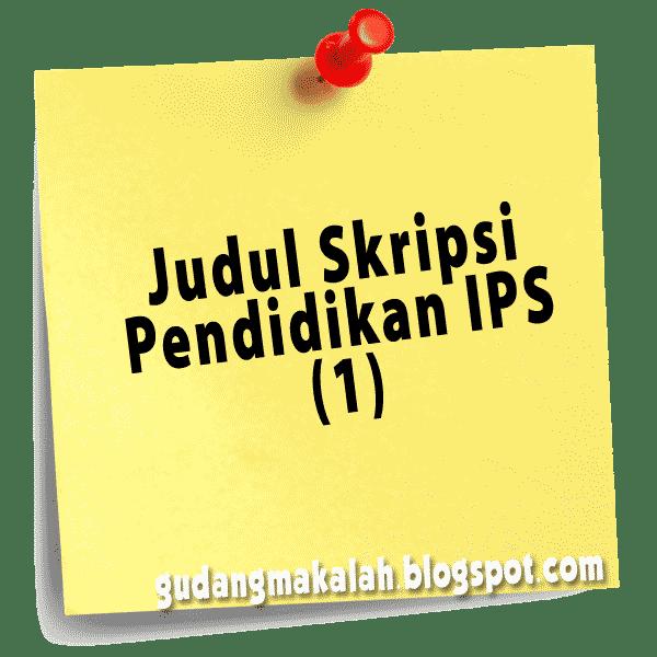 judul skripsi pendidikan ips-1