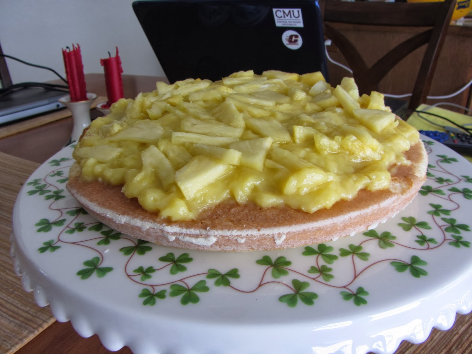 ... : Pineapple Coconut Layer Cake with Pineapple Curd – revisited