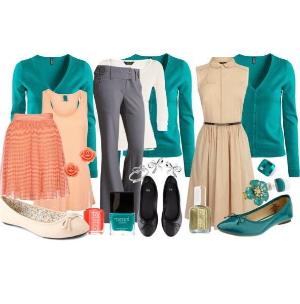 PHOTOS: WOMEN WORK OUTFIT(WAYS TO MIX TURQUOISE & TEAL)