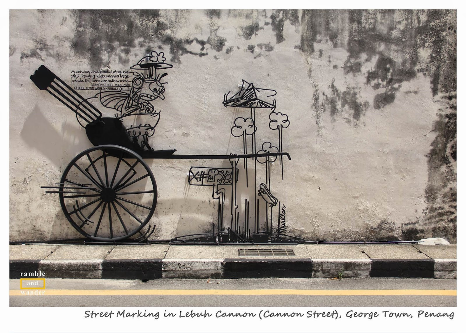 George Town Penang Street Marking - Ramble and Wander