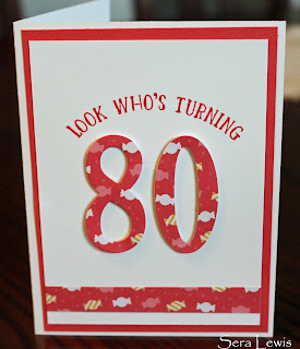 Make any birthday special with the Number of Years stamp set and Large Numbers framelits dies