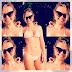 Eliana comemora boa forma ao postar foto de biquíni
