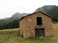 Paller a Marginet de Dalt amb el Serrat de Picamill al seu darrere