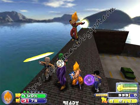 Free Download Games - Dragon Ball Z Bid For Power
