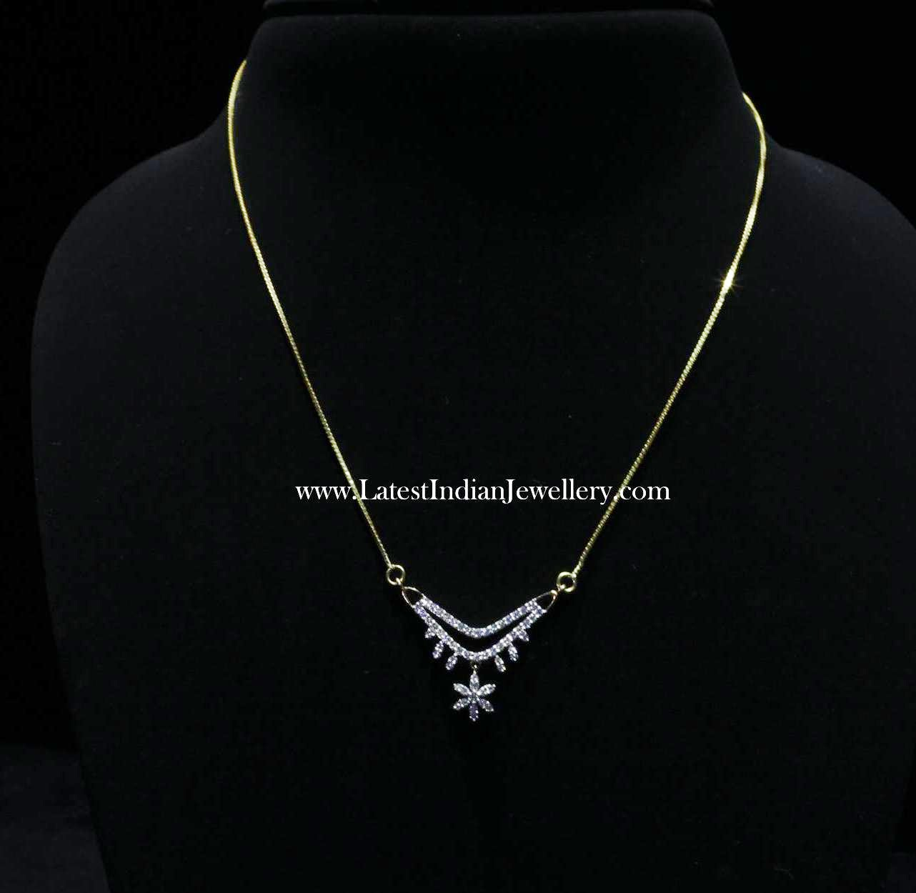 Simple Indian Diamond Pendant design