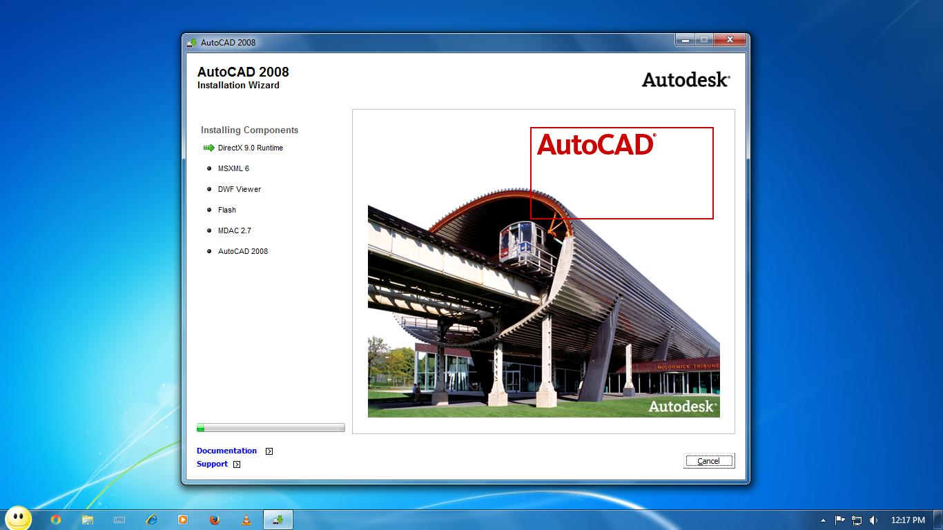AutoCAD 2008  installation