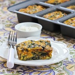 Kalyn's Kitchen®: Recipe for Swiss Chard and Mushroom Squares