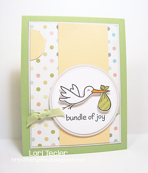 Bundle of Joy card-designed by Lori Tecler/Inking Aloud-stamps from Lawn Fawn