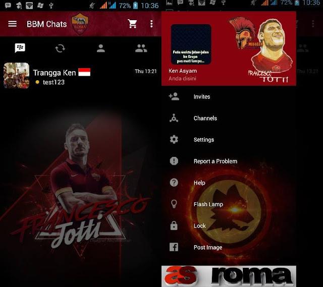 Preview BBM Francesco Totti - BBM Android V2.10.0.35