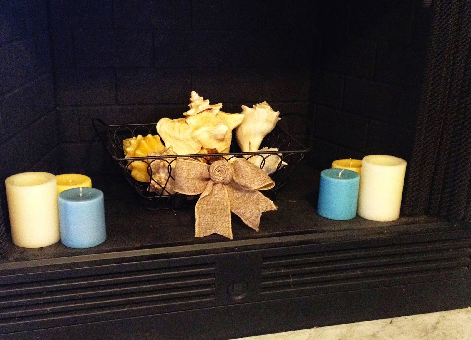 Coastal Fireplace Decor