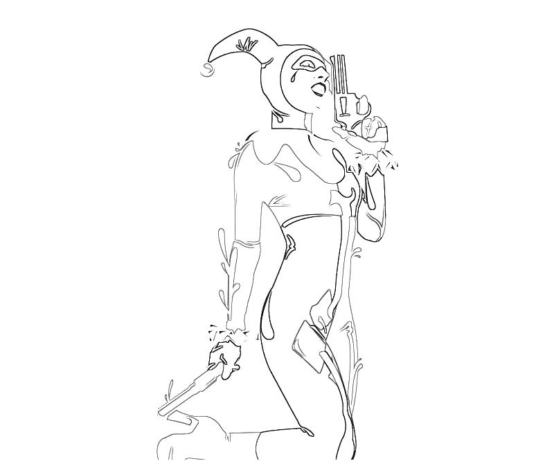 harley quinn coloring pages - photo#20