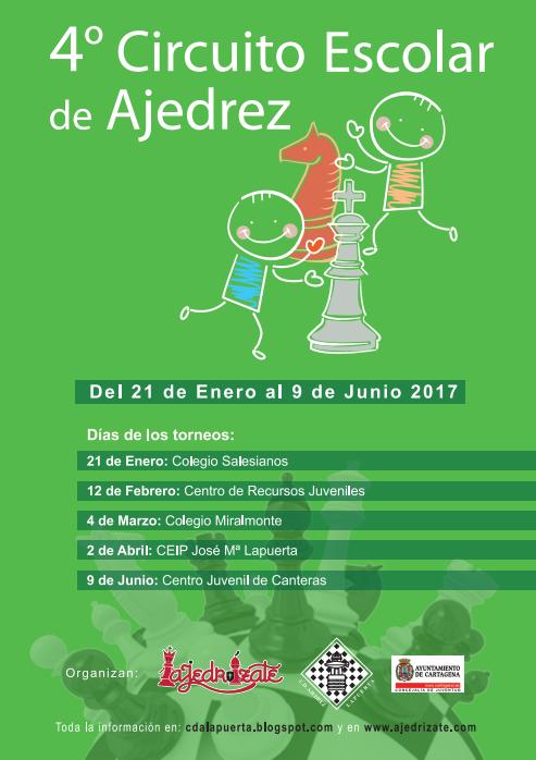IV Circuito Escolar 2017 ESCUELA DE AJEDREZ CDA LAPUERTA - AJEDRÍZATE