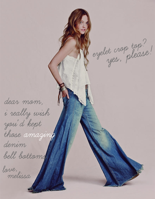 free people denim bell bottoms