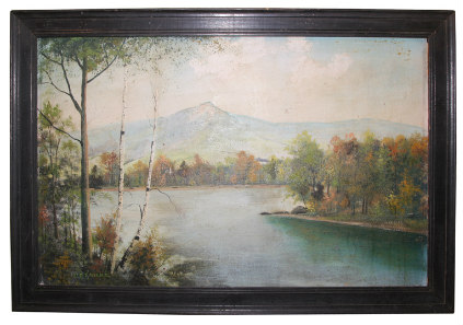New Hampshire White Mountains oil painting