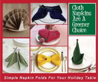 Napkin Folding Ideas For The Holidays.
