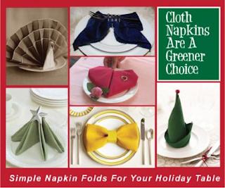 Napkin Folding Ideas For The Holidays.