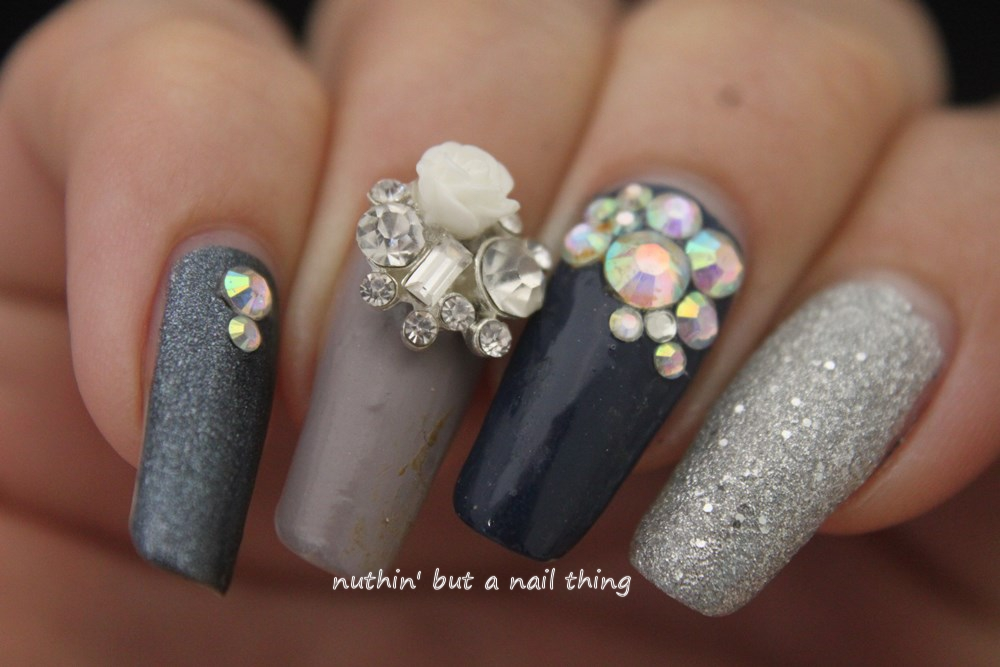 Nuthin but a nail thing easy bling nails nail art design idea embelishment bling diamante nail art design idea embelishment bling diamante prinsesfo Images