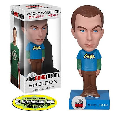 Entertainment Earth Exclusive Sheldon Batman Variant The Big Bang Theory Bobble Head by Funko