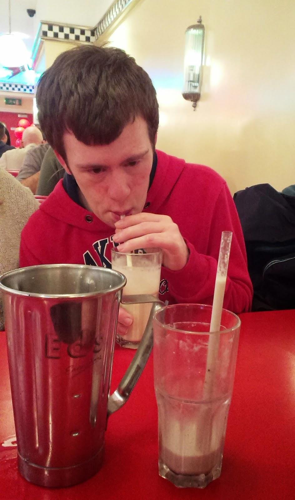 Ed's Easy Diner milkshake