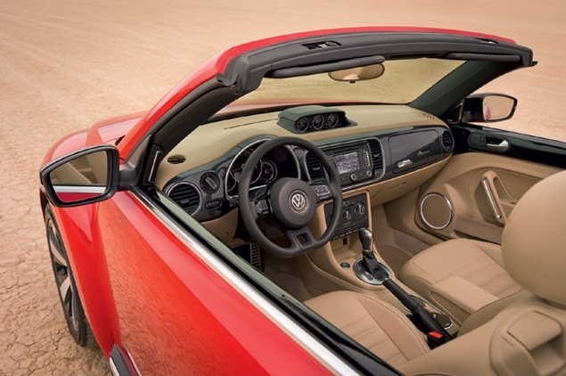 VW Bettle Convertible Interior