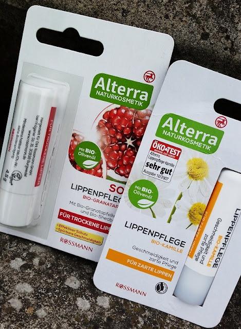 Alterra | Bezbarwne pomadki ochronne | Bio-Granatapfel vs Bio-Kamille