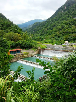 Walk up to Wufengchi Waterfall viewpoint in Yilan Taiwan