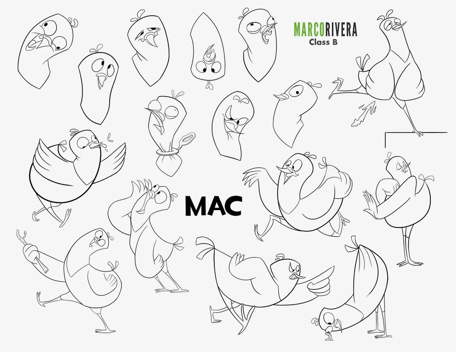 Apple Character Design : Art of marco rivera mac character design package