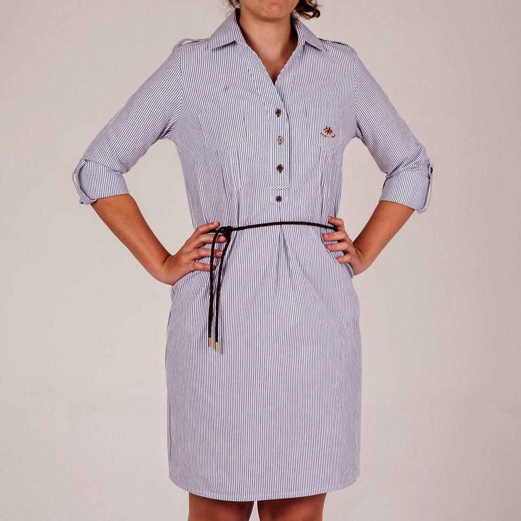 Vestido navy de la nueva colección de mujer de Paco Cecilio