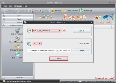 Selanjutnya klik START untuk memulai convert file. Tunggu prosenya ...