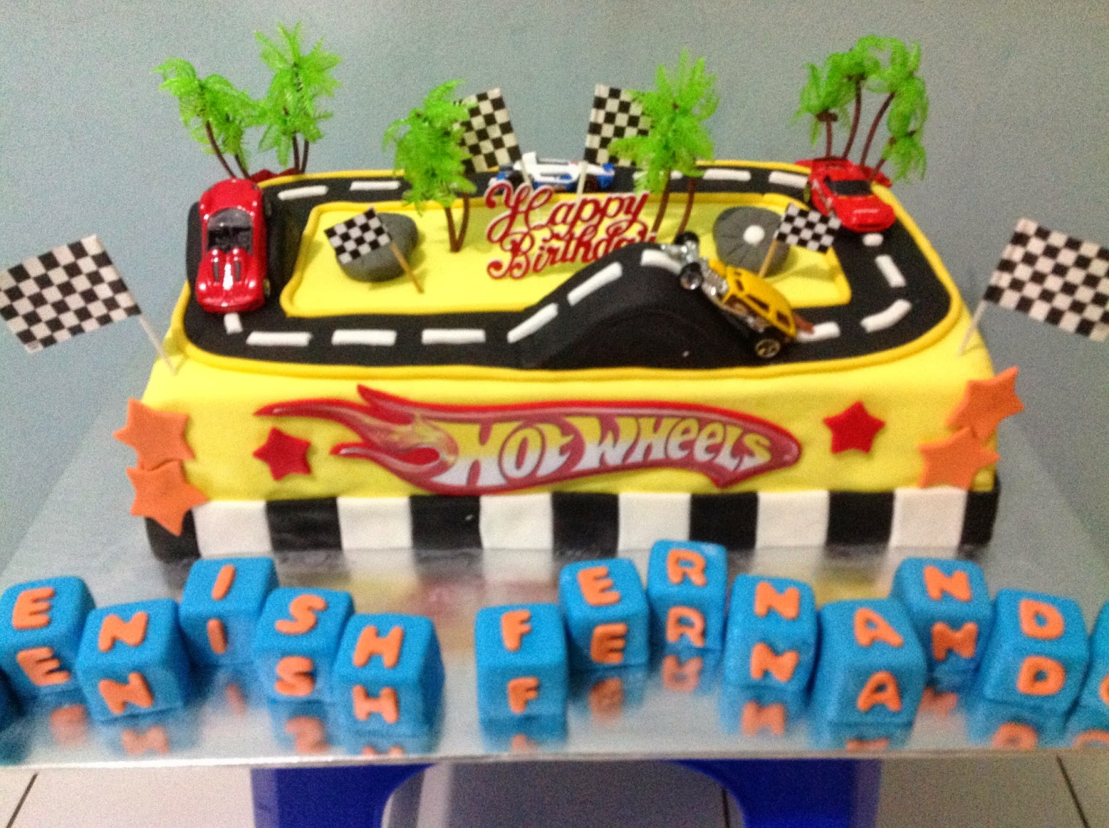 how to make hot wheels cake