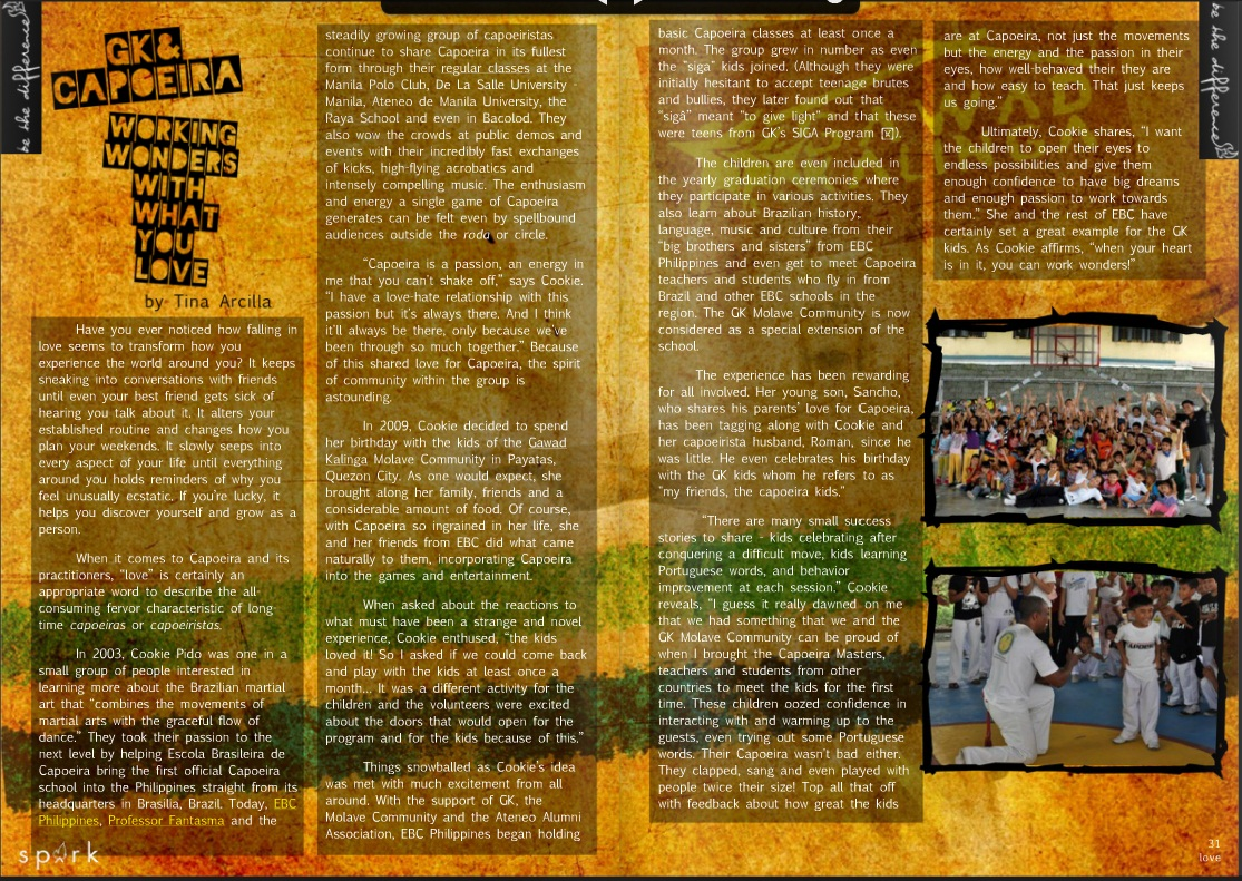 gk capoeira working wonders with what you love spark online magazine issue 2