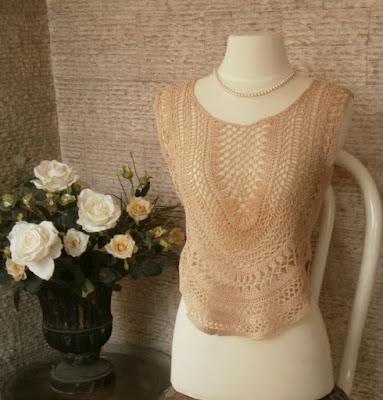 crochet top by mimi