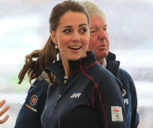 Kete Middleton, Royal Patron of the 1851 trust attend the America's Cup World Series